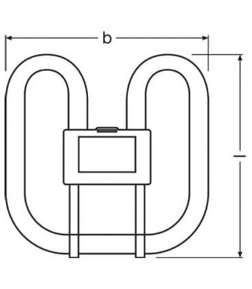 2D Cfl Square 16W-827 GR10q 4PIN