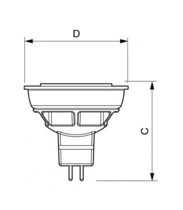 Master LEDspotLV D 6.5-35W CW 12V MR16 36D Moznost zatemnitve