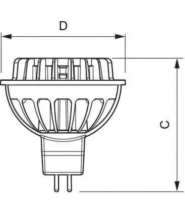 Master LEDspotLV D  7-35W WH 830 12V MR16 24D Dimmerabile