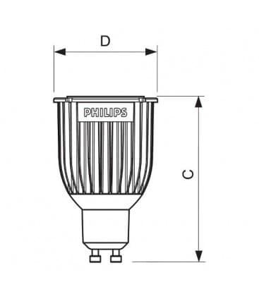 Master LEDspotMV D 8-50W WW 230V GU10 40D Dimmbar