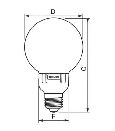 Softone Globe 12W-827 G93 E27