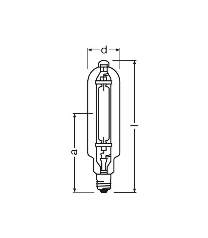Metal Halide Lamp Choke: Osram HQI-T 2000W-n-i E40 Hqi-t-2000-n 4008321665379