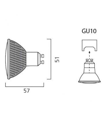 Hi-Spot ES  50 Par16 50W 240V 25D GU10