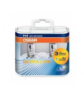 Plus de H4 12V 60W 64193 ULT P43t Ultra Life Paquet double