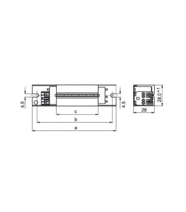 Alimentatore LN58TD.120 230V 50Hz T8, T12