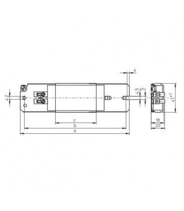 Reactancia LN18.220 230V 50HZ Super-delgado T8, TC-F/TC-L, TC-D/TC-T, TC-DD