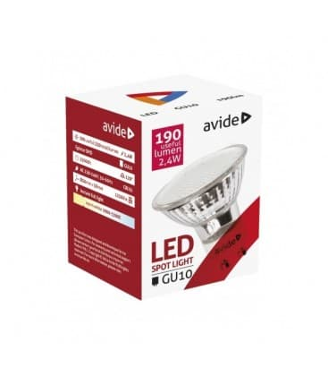 LED Spot Glass 2.4W WW GU10