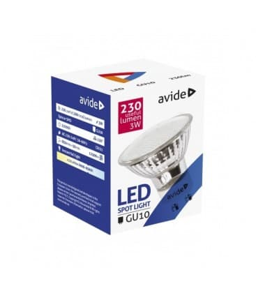 LED Spot Glass 3W CW GU10