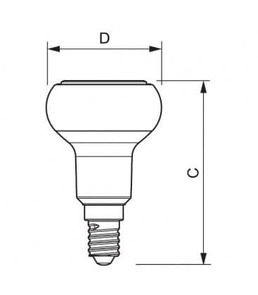 LED Reflektor 4-40W WW 240V R50 E14 36D Moznost zatemnitve
