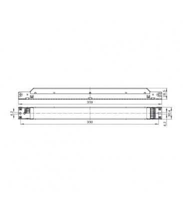 ELXd 236.721 2x36-40W TC-F/-L, T8 Dimmable