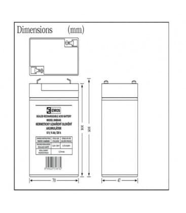 SLA Batterie 6V/4Ah