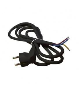 Câble rond 3x1,5mm 2m noir