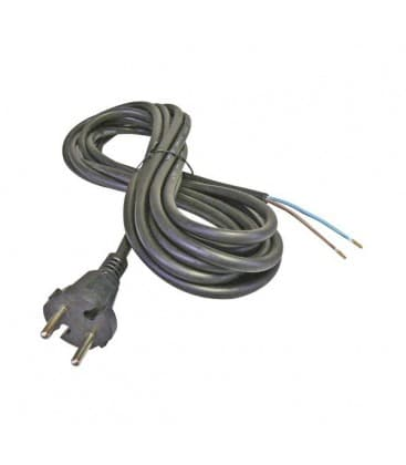 Flexo Cord gomma 2x1mm² 5m nero S03050 8595025348845