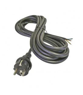 Flexo prikljucna vrvica, guma, 3x1,0mm, 5m črna