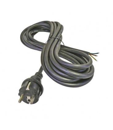 Flexo prikljucna vrvica, guma, 3x2,5mm, 5m crna