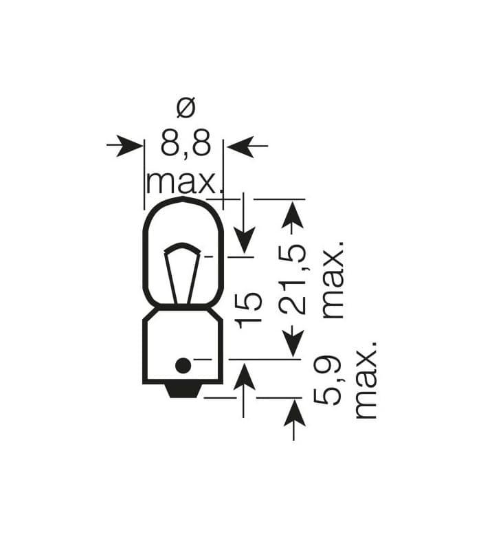 OSRAM Lámpara bombilla OSRAM 3860 12V5W