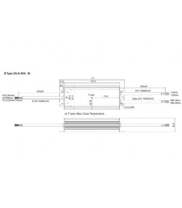 HLG-40H-24B, 24V / 40W / IP67