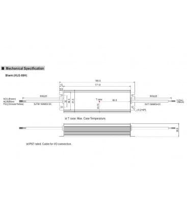 HLG-80H-12, 12V / 60W / IP67
