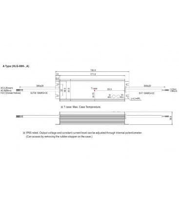 HLG-80H-12A, 12V / 60W / IP65