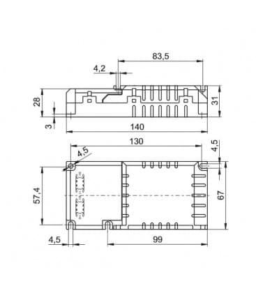 ELXc 142.872 mit Zugentlastung 1x18-42W, 2x18-26W