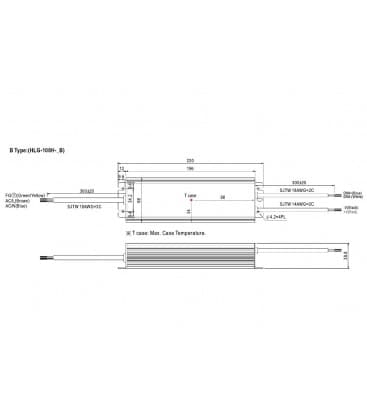 HLG-100H-24B, 24V / 96W / IP67
