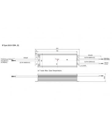 HLG-120H-12B, 12V / 120W / IP67