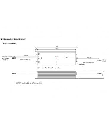 HLG-150H-24, 24V / 150W / IP67