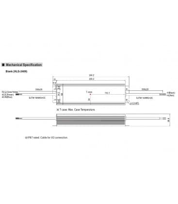 HLG-240H-12, 12V / 192W / IP67