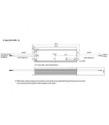 HLG-240H-12A, 12V / 192W / IP65
