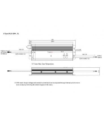 HLG-320H-24A, 24V / 320W / IP65