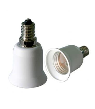 Adaptador de sostenedor lampara de E14 a E27