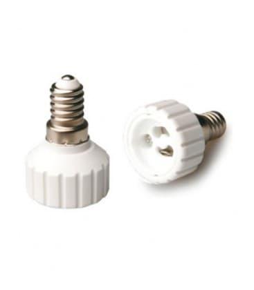 Adaptador de sostenedor lampara de E14 a GU10