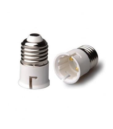 Lamp holder adapter from E27 plug to B22 socket