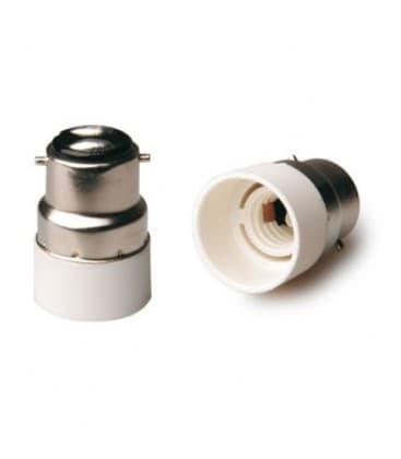 Adaptador de sostenedor lampara de B22 a E14
