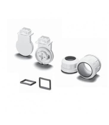 Lampenhalter Fassung G13 107958, Schraubring und Fusdichtungen IP67