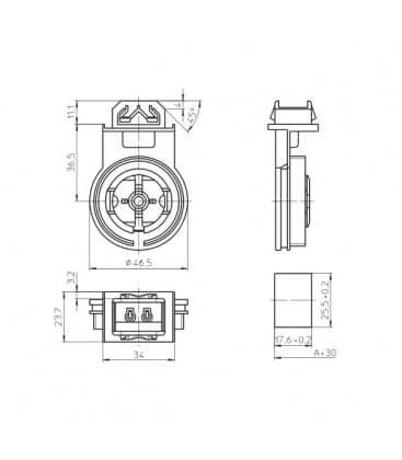 Lampenhalter Fassung G13 107958