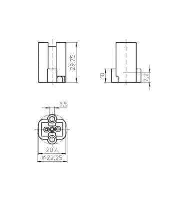 Portalampara G8.5 33650