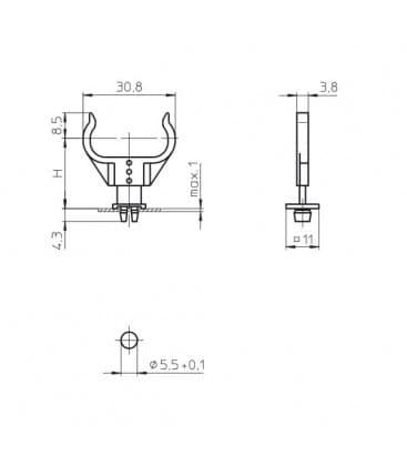 Lampenhalter fur G23, 2G7