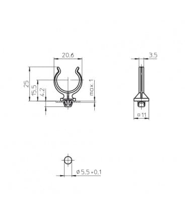 Support de lampe pour 2G11 36060