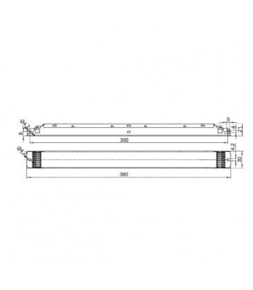 ELXd 124.600 1x14-24W T5, TC-F/-L DALI