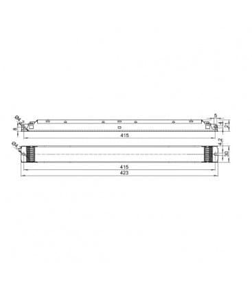 ELXd 239.610 2x21-40W TC-L, T5 Dimmbar