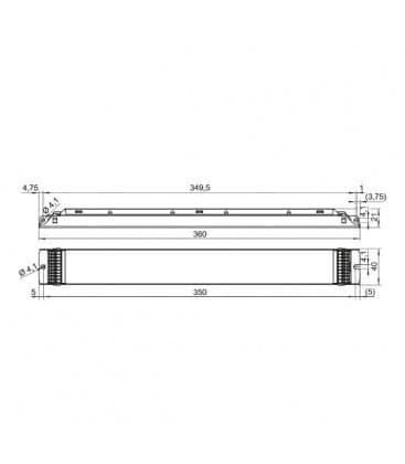 ELXd 418.625 4x18W T8 Dimmbar