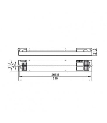 EMXs 180.000 1h Ni-Cd Module pour eclairage de secours