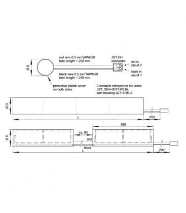 EMXs 180.001 3h Ni-Cd Batterie pour module pour eclairage de secours