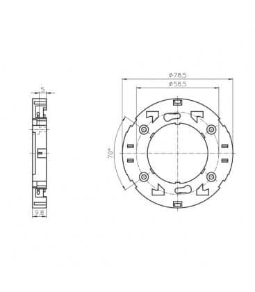 Lampenhalter Fassung GX53-1 11000
