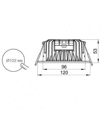 LED Pro Series 12W 230V 4000K 110D Moznost zatemnitve