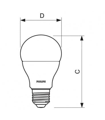 CorePro LEDBulb D 9.5-60W 220-240V WW E27 Regulable