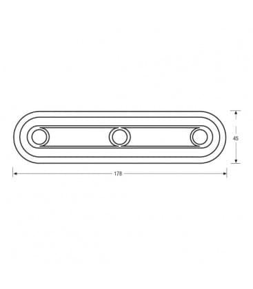 LED Dot-it Linear Vario 0.23W 80142 Argento