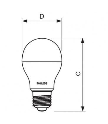CorePro LEDBulb  9-60W 220-240V W E27