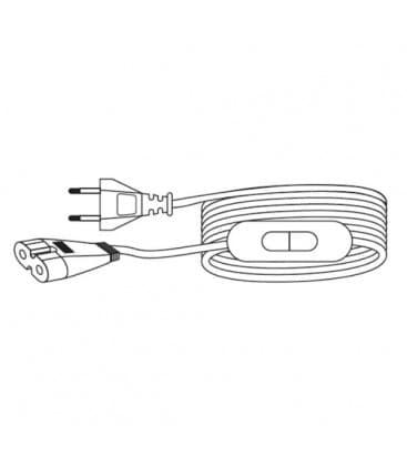 LEDVANCE Polybar Anschlusskabel 2m mit EU Stecker